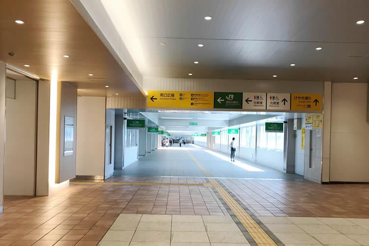 新潟駅 西側連絡通路