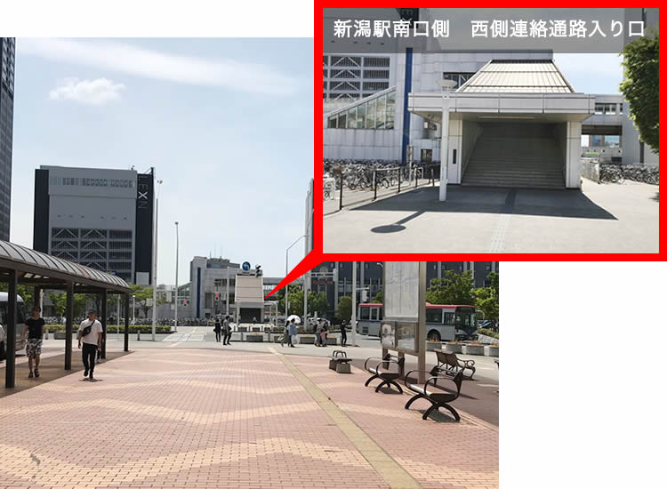 東側連絡通路入り口の反対側には西側連絡通路入り口