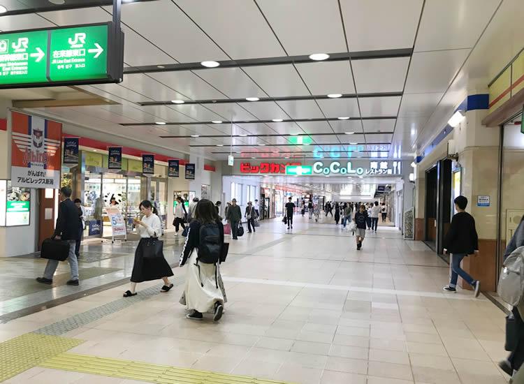 新潟駅 側連絡通路